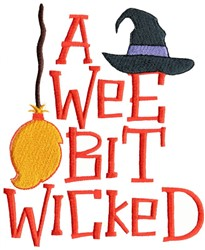A Wee Bit Wicked embroidery design
