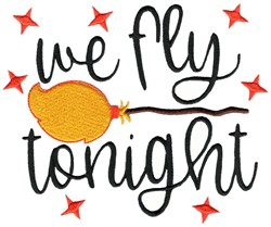 We Fly Tonight embroidery design