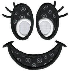Jack-O-Lantern Face Applique embroidery design