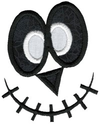 Silly Halloween Applique Face embroidery design