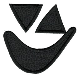 Applique Jack-O-Lantern Face embroidery design