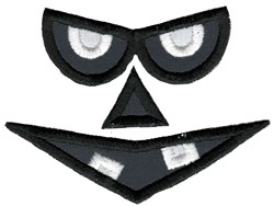Scary Halloween Applique Face embroidery design