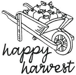 Wheelbarrow of Apples embroidery design