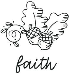 Acorns Faith embroidery design