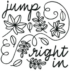 Fall Leaves Jump Right In embroidery design
