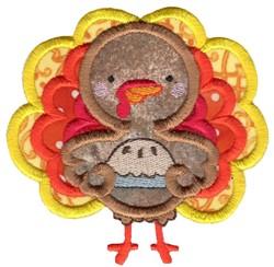 Pie and Turkey Applique embroidery design
