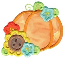 Floral Pumpkin Applique embroidery design