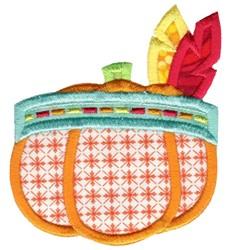 Indian Headdress Pumpkin Applique embroidery design