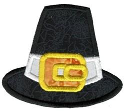 Pilgrim Hat Applique embroidery design
