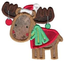 Christmas Moose Applique embroidery design