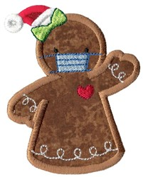 Face Mask Gingerbread Lady Applique embroidery design