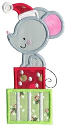 Christmas Mouse Applique embroidery design