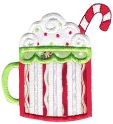 Christmas Hot Chocolate Applique embroidery design