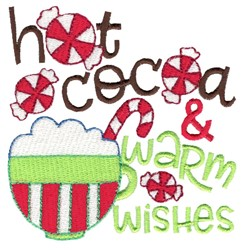 Hot Cocoa And Warm Wishes embroidery design