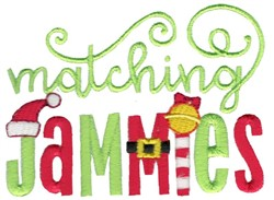 Matching Jammies embroidery design