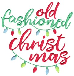 Old Fashioned Christmas embroidery design