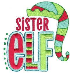 Sister Elf embroidery design