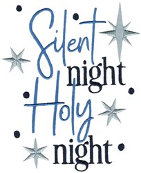 Silent Night Holy Night embroidery design