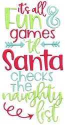 Christmas Fun And Games embroidery design
