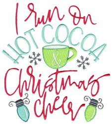 Hot Cocoa and Christmas Cheer embroidery design