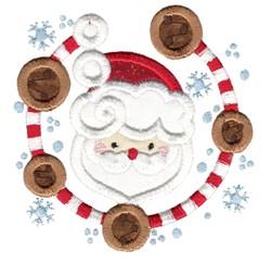 Applique Santa Laurel embroidery design