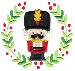 Applique Nutcracker & Laurel embroidery design