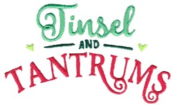 Tinsel And Tantrums embroidery design
