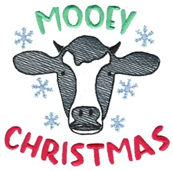 Mooey Christmas embroidery design