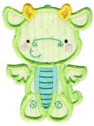 Green Dragon Applique embroidery design