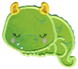 Sleeping Dragon Applique embroidery design