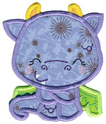 Sweet Dragon Applique embroidery design