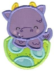 Dragon & Egg Applique embroidery design