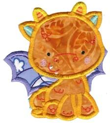 Adorable Dragon Applique embroidery design