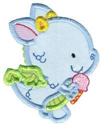 Dragon & Ice Cream Applique embroidery design