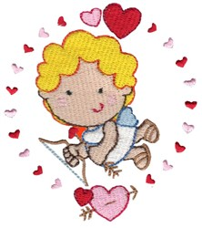 Cupid & Wreath embroidery design
