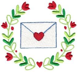 Love Letter & Laurel embroidery design