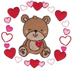 Teddy Bear & Laurel embroidery design