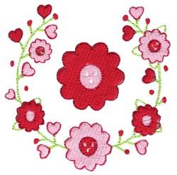 Valentine Flower & Laurel embroidery design
