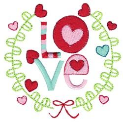 Valentines Love & Laurel embroidery design