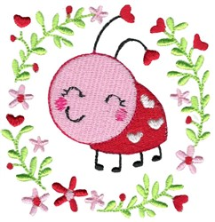 Ladybug & Laurel embroidery design
