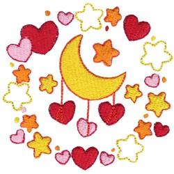 Moon Laurel embroidery design