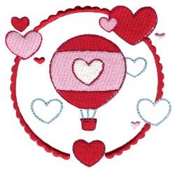 Hot Air Balloon Laurel embroidery design