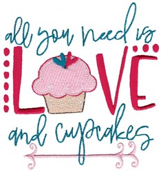 Love And Cupcakes embroidery design