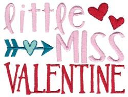 Little Miss Valentine embroidery design