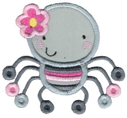 Applique Girl Spider embroidery design