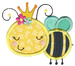 Applique Queen Bee embroidery design