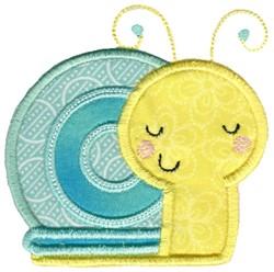 Applique Boy Snail embroidery design