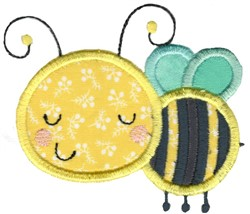 Applique Bee embroidery design