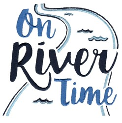 On River Time embroidery design