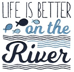 Better On The River embroidery design